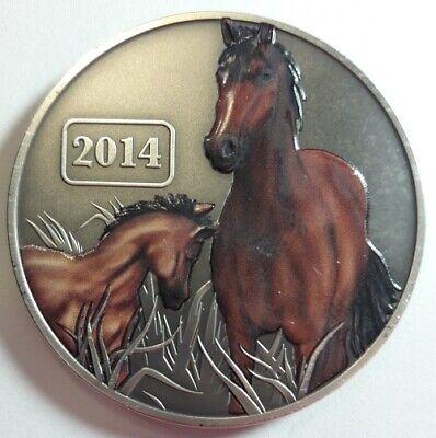 2014 TOKELAU 1oz SILVER $5 DOLLARS ANTIQUE FINISH