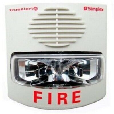 Simplex 49av-wwf Audiblevisible Addressable Horn And Candela Strobe
