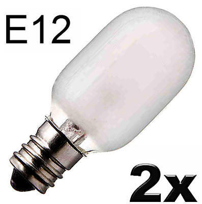 120v Glühbirne Lampe (2x Glühlampe Glühbirne Lampe Röhre Spezial Ersatz E12 120V 15W matt  455208)