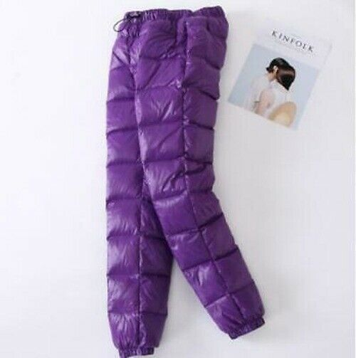 Womens Winter warm Outdoor Sports Down Pants Puffer Windproof Coldproof Trousers