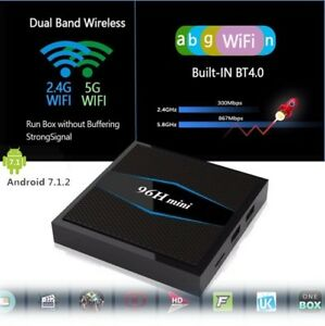ANDROID TV BOX 96H MINI 2G/16G DUAL-BAND WIFI BLUETOOTH 4 S905W