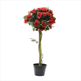 Rose bushes bay trees artificial outdoor trees