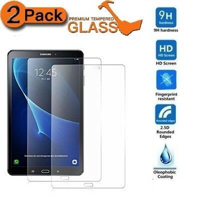 """2 PACK Tempered Glass Screen Protector For Samsung Galaxy Tab A6 10.1"""" SM-T585"""