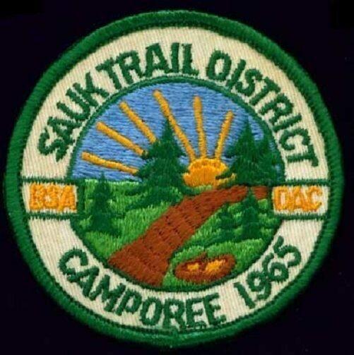 BSA DAC Sauk Trail District camporee patch 1965