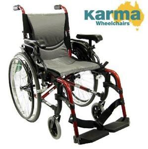 "NEW KARMA MANUAL WHEELCHAIR 16"" RED S-305 136244165"
