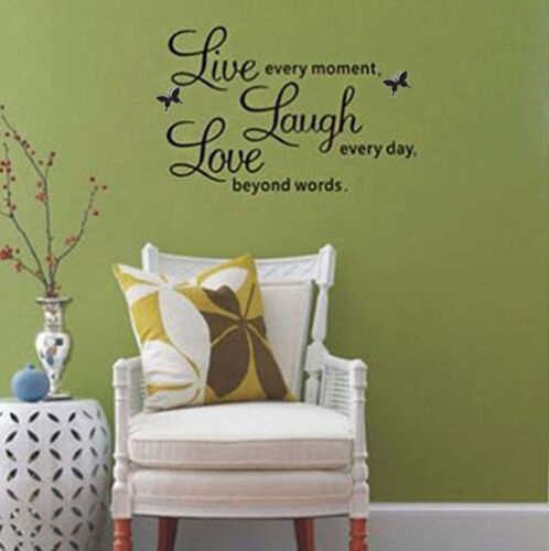 Diy Live Laugh Love Quote Vinyl Decal Removable Art Wall Stickers Home Decor Hot Ebay