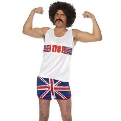 Erwachsene TV Kostüm Herren Union Jack 118 Man Outfit M 96.5-102cm by Smiffys