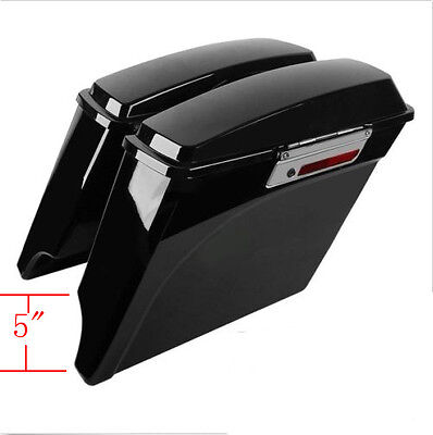 """5"""" Stretched Hard Saddlebags For Harley Touring Electra Street Glide Road king"""