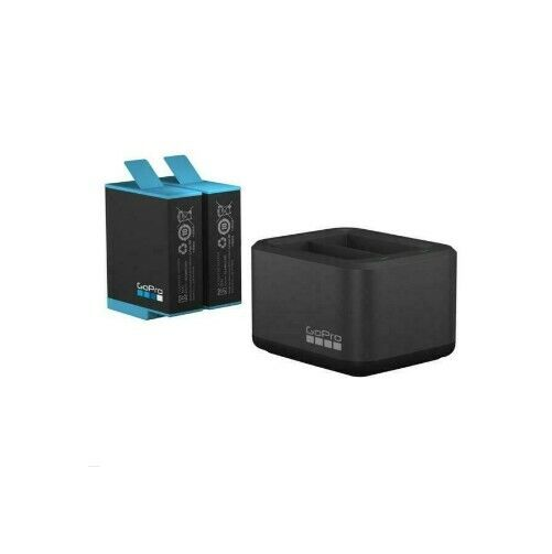 GoPro Dual Battery Charger with Battery for HERO9 | 1720mAh lithium ion battery