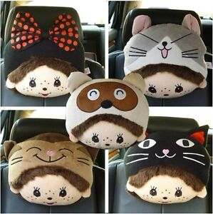 New Lovely Monchhchi Car  Seat Head Neck Rest Cushion Pillow Pad Headrest Cover