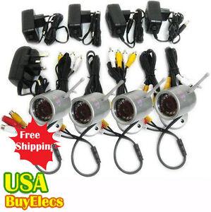 4-CH-Wireless-IR-Night-Vision-4-Cameras-DVR-Receiver-Security-Camera-System