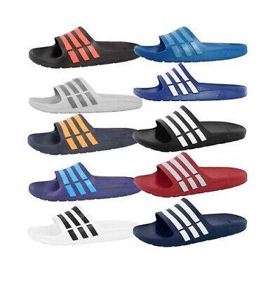 Adidas Duramo Sliders Adidas Mens Boys Sandals Flip Flops Adilette Beach Shoes