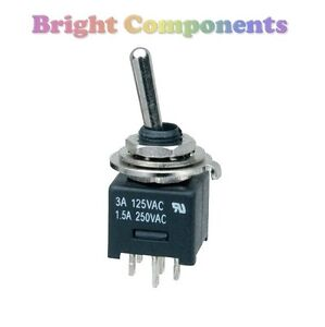 Miniature-DPDT-Toggle-Switch-General-Purpose-1st-CLASS-POST