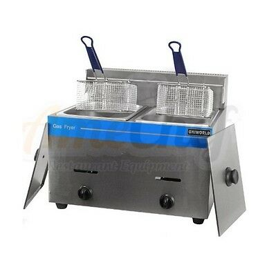 New Commercial Countertop Gas Fryer 2 Baskets Ugf-72 Propane Lpg Whose