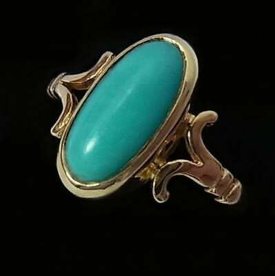 VINTAGE 9CT GOLD AND TURQUOISE RING