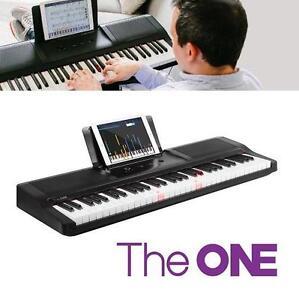 NEW THE ONE SMART ELECTRIC KEYBOARD - 117416551 - 61 KEY ONYX BLACK LIGHT PIANO