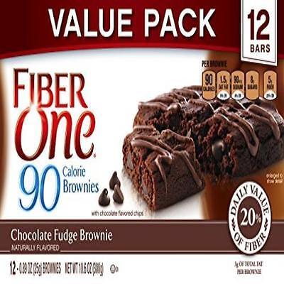 Kosher Brownie - Fiber One 90 Calorie Soft-Baked Bars Chocolate Fudge Brownie 12 Count 10.6 Oz.