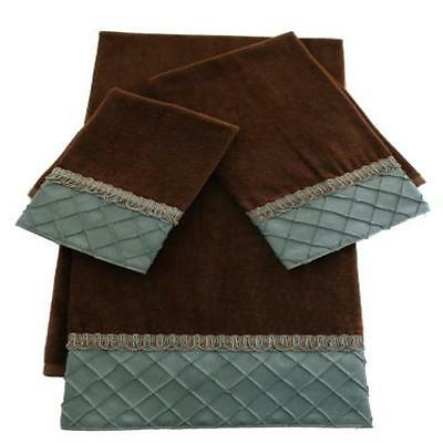 Sherry Kline Pleated Diamond 3-Piece Decorative Towel Set