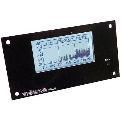 Velleman Audio Analyzer Amplifier Kit Dyno Shows True Amp Rms Watt Rta Mean Db