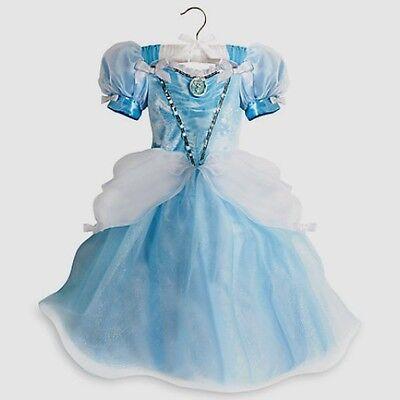 Disney Princess Cinderella Deluxe Light-Up Dress Halloween Costume Gown Sz 4 5 6