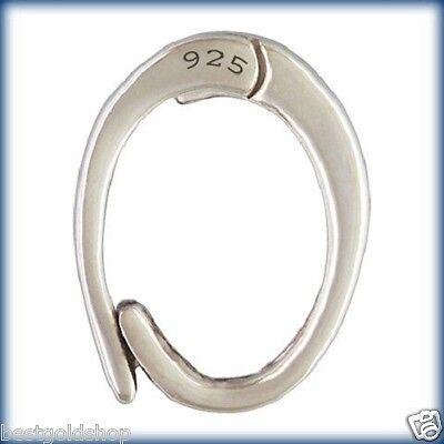Large Charm Enhancer Attacher Holder Snap Clasp Genuine 925 Sterling Silver