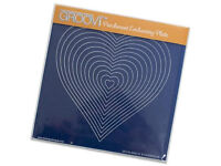 Groovi Plates - Nested Hearts Parchment embossing plale