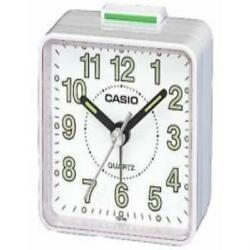 Casio Tq140-7D White Dial Easy Reader Table Top Travel Alarm Clock US SELLER New