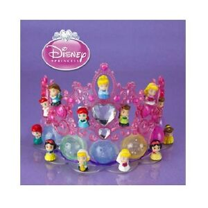 Squinkies-Disney-Princess-TIARA-DISPLAY-Dispenser-12-22-GLITTER-Cinderella