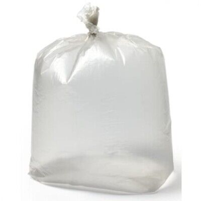 20 Pack Of Clear Refuse Rubbish Sack Liner Bags For Waste Bins