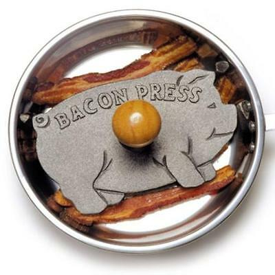 Small Appliances Norpro Cast Iron Pig Bacon Grill Press Home Bar Kitchen New N