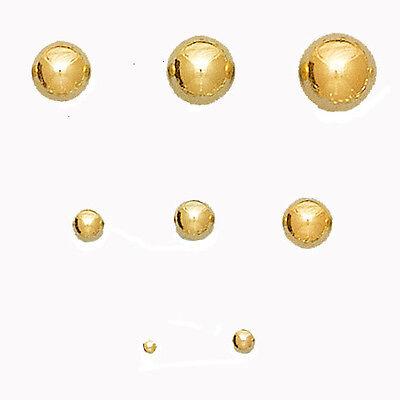 14k Gold filled Ball Stud Earrings Adult Children  Studs 2,3,4,5,6 .7.8 MM 14k Gold Filled Stud