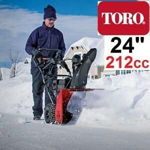"NEW TORO SNOWMASTER 724QXE 36002 206273311 SNOW BLOWER GAS 24"" 212CC 2-STAGE ELECTRIC START"