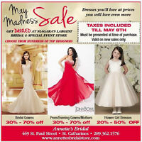 TAXES INCLUDED & BIG MARKDOWNS ON ALL IN STOCK DRESSES