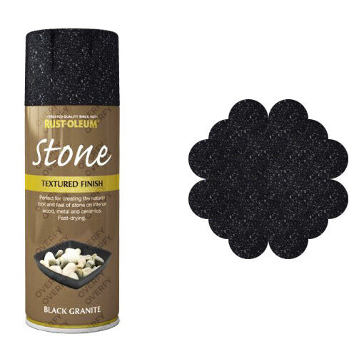 Rust Oleum Textured Stone Effect Black Granite Spray Paint 400ml eBay