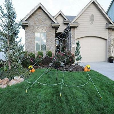 Giant Spider Web Outdoor Halloween Decor White Mega Yard Ultimate Prop 23 X - Halloween Mega Spider Web