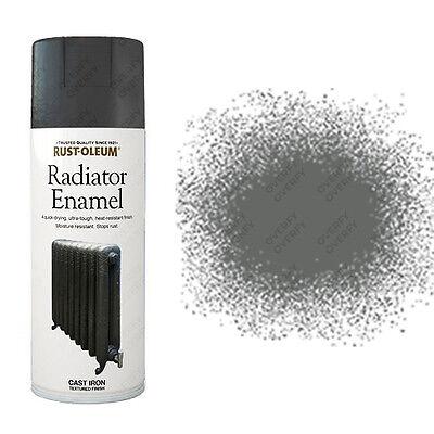 x1 Rust-Oleum Ultra-Tough Radiator Enamel Spray Paint Cast Iron Grey Textured