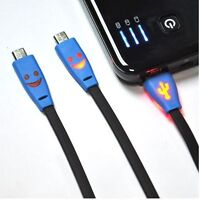 Smiley Face Charger Cable for Samsung, LG, HTC, BlackBerry