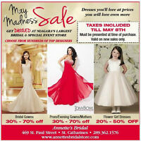 TAXES INCLUDED & BIG SAVINGS ON ALL IN STOCK DRESSES
