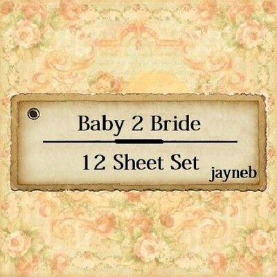 Graphic 45 Baby 2 Bride 12 different sheets of 12 x 12-inch (12x12 Inch Paper 2 Sheets)