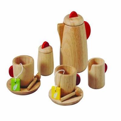 (Toddler Toy Plan Tea Set Solid Wood Version Kids Play Game Pretend Pre-School Yo)