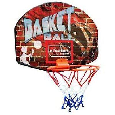 BASKETBALL NET, BALL AND HOOP SET WALL MOUNTABLE BACKBOARD KIDS GARDEN GAME SF5