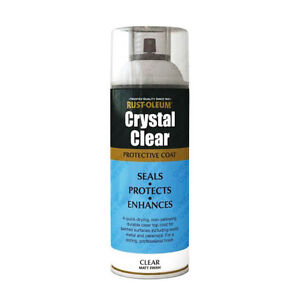 x1 Rust-Oleum Crystal Clear Multi-Purpose Spray Paint Lacquer Top Coat Matt