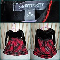 Red and black plaid dress 2Y Excellent condition