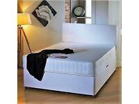 HUGE SALE!!! FAST NEXT DAY delivery!! Brand New Double (Single + King Size) Divan & Sprung Mattress