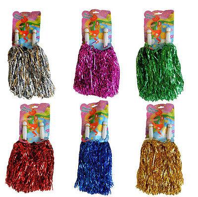 2 x Pom Pom FARBAUSWAHL Püschel Cheerleader Pompoms Pompom Pompon Pompons