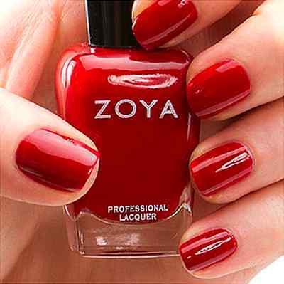 ZOYA ZP626 REKHA bold blood red with glossy cream finish nail polish lacquer NEW