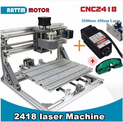 Usb 3-axis 2418 Mini 5.5w Laser Machine Grbl Control Cnc Milling Wood Router