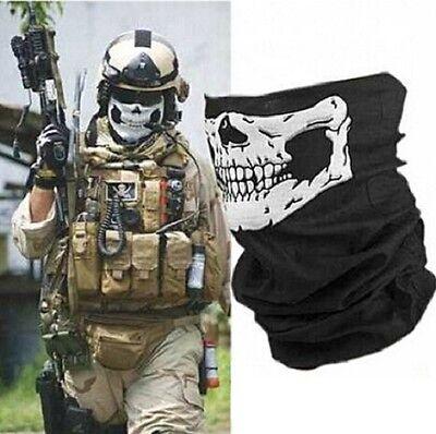 Bandana Totenkopf Biker Combat Maske Sturmhaube Army Motorrad Militär Skull (Combat Maske)