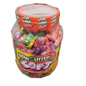 Now and Later Giant Soft Chewy Taffy Candy Assortment Tub (Pack of 120) by Now a