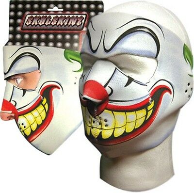 Joker Clown Green White Red Capsmith Full Face Neoprene Mask Biker Ski Costume